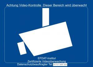Din 33450 Hinweisschild Videoüberwachung Dsgvonews